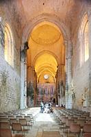 France, Dordogne, Perigord Noir, Saint Amand de Coly, labelled Les Plus Beaux Villages de France The Most Beautiful Villages of France, fortified abbe...