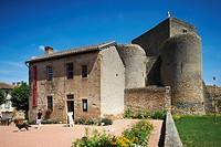 France, Saone et Loire, Semur en Brionnais, labeled Les Plus Beaux Villages de France The Most Beautiful Villages of France, Saint Hugues castle