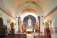 France, Puy de Dome, Usson, labelled Les Plus Beaux Villages de France The Most Beautiful Villages of France, Saint Maurice norman church