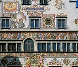 Altes Rathaus or old town hall, Lindau am Bodensee, Allgaeu, Swabia, Bavaria, Germany, Europe