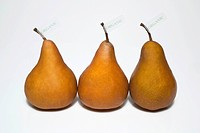 Organic Produce, still_life of three brown pears