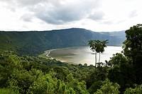 Embakai Crater, volcano, Ngorongoro Conservation Area, Tanzania, Africa