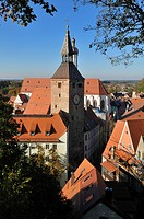 Overlooking the historic town of Landsberg am Lech, Upper Bavaria, Germany, Europe, PublicGround