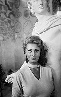 Undated portrait of Italian actress Sophia Loren, taken at Cinecitta Studios, in Rome.
