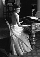 British actress Audrey Hepburn May 4, 1929 _ January 20, 1993 on the set of War and Peace, 1955. She won BAFTA Awards for her performances in The Nun´...