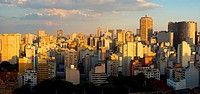 Twilight in the city of Sao Paulo, Brazil.
