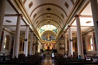 Interior view of the Metropolitan Cathedral of San Jose, Costa Rica.