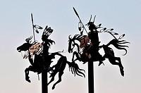 Flat iron Indian Sculpture at Fort Spokane Recreation Area in Spokane, Washington.