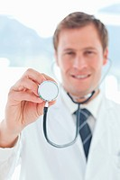 Stethoscope being used by doctor
