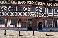 France, Seine Maritime, Saint Valery en Caux, the half timbered house called Henry IV 1540 also called house Ladire