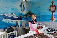 France, Seine Maritime, Le Havre, fishing port, Fish Market practicing direct sale