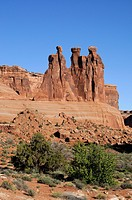 Three Gossips rock formation, Arches National Park, Utah, USA