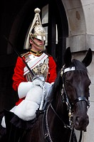 United Kingdom, Horse Guards, English guard on horseback with his sword