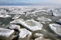 Frozen Black Sea, a rare phenomenon, Odessa, Ukraine, Eastern Europe