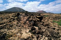 Volcanic landscape, Lanzarote, Canary Islands.