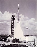 Launch of the Ranger 7, also called Ranger B, lunar probe aboard an Atlas_Agena rocket from Cape Canaveral on July 28th, 1964. Ranger 7 was put on an ...