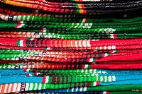 Colorful Mexican Blankets, Santa Fe, New Mexico
