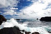 Nua´ailua Bay, Keanae, Hana Highway, Road to Hana, Maui, Hawaii, USA