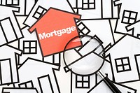 a red home sign, Real Estate Concept , Mortgage