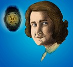 Rosalind Franklin. Illustration of Rosalind Franklin 1920_58, British X_ray crystallographer. Her work producing X_ray images of DNA Deoxyribonucleic ...