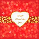 Happy Valentines Day, Vector Illustration With Gradient Mesh