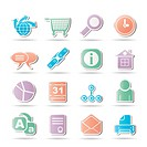 WebSite, Internet and navigation Icons _ vector illustration