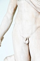 Greek statue penis in an Italian museum, original more than 1700 years old