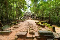 Ta Som, A small temple at Angkor, Cambodia, built at the end of the 12th century for King Jayavarman VII, It is located north east of Angkor Thom and ...