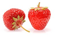 Strawberry. A berry isolated on a white background