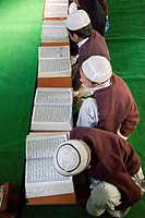 Madrasa Students Reading Selections from the Koran, Madrasa Imdadul Uloom, Dehradun, India