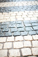 Cobblestone pavement background, in Helsinki, Finland
