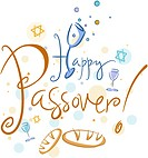 Text Featuring the Words Happy Passover_ eps8