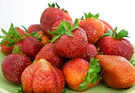 Pile of fresh strawberries