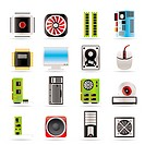 Computer performance and equipment icons _ vector icon set