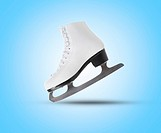 image of figure skate. on blue background