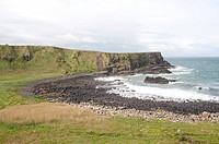 Natural Landscape Scene from Giants Causeway in Northern Ireland
