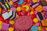 Candy sweets with assorted colours and liquorice
