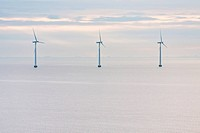 Middelgrunden _ offshore wind farm near Copenhagen, Denmark at early morning