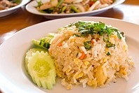 Close_up Thai food fried rice