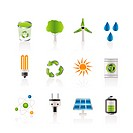 Ecology, energy and nature icons _ Vector Icon Set