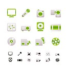 Media equipment icons _ vector icon set _ 2 colors included