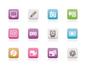 Media equipment icons _ vector icon set