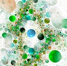 Abstract 3D a background from multi_colored full_spheres of the various form
