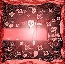 grunge style valentines background card