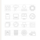 Digital Camera Performance _ Vector Icon Set