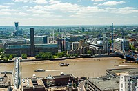 London, UK, Great Britain, Aerial Skyline, Panorama Cityscape, from St  Paul´s Cathedral