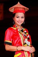 Women Dressed in Malay Traditional Costume, Malaysia