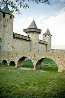 Fortified city, Carcassonne, Aude, Languedoc-Roussillon, France