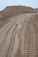 A dirt road at a quarry (thumbnail)