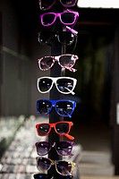 Sunglasses on display in a store (thumbnail)